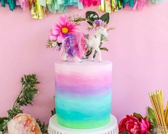 Rainbow Ombre Cake- Fake cake, prop cake, party decor