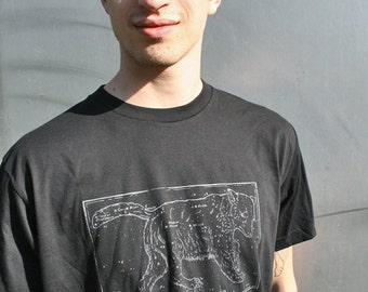 ursa major t-shirt, fathers day, constellation tee, celestial tee, mens black t-shirt, astrology, screenprinted tee, 1Aeon