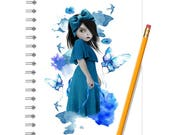 Bluebell Notebook - Bluebell Journal - LINED OR BLANK pages, You Choose