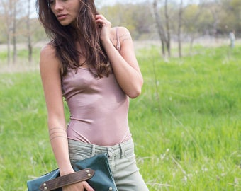 Leather Foldover Clutch - Leather Clutch - Leather Handbags - Leather Purse - Leather Bags  - Hobo Bags - Womens Purse -  Clutch Purse