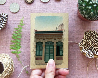 Singapore Small Notebook 25. Traveler Journal - Singapore Shophouse Inspirations in your Pocket Windows