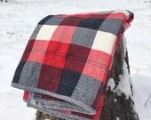 Red Plaid Crib Bedding Quilt / Buffalo Plaid Quilt / Rustic Baby Bedding, Plaid Baby Bedding, Hunting Baby Bedding, Lumberjack Quilt