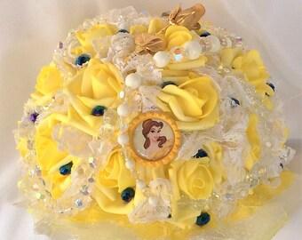 Disney wedding etsy for Bouquet de fleurs jaunes