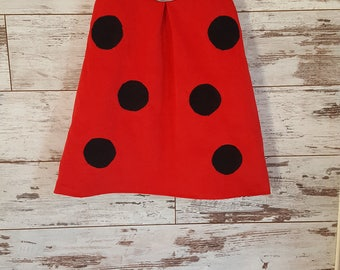 Ladybug dress, Ladybird dress, Ladybird costume, Baby dress, Red toddler dress, Ladybug Girls clothes, Kids clothes, Birthday dress ladybug