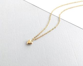 14K gold filled MINI LOVE HEART Necklace dainty, gold, layering necklace, minimalistic, heart necklace, by little Motives