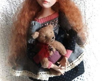 Amelia. Art Doll, Polymer clay Doll.