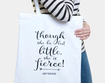 Gift under 20 / Best seller tote bag / William Shakespeare Quote  / Gift for woman / Literary tote / Womens everyday bag / 100% cotton