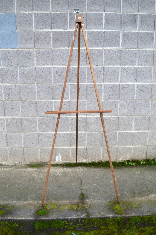 anco bilt, wooden floor easel, vintage art easel, painting easel