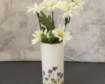 Vintage Bud Vase - Otagiri Violets - Japan