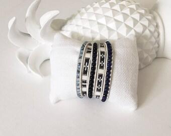 Blue Sodalite Mix Wrap Bracelet