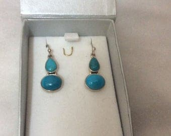 Vintage Arizona Turquoise sterling silver earrings