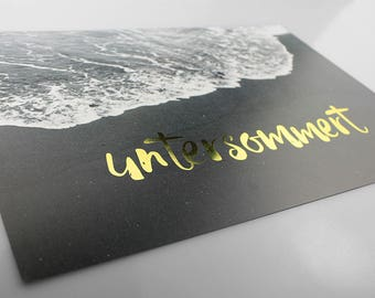 GOLD foil printing UNTERSOMMERT