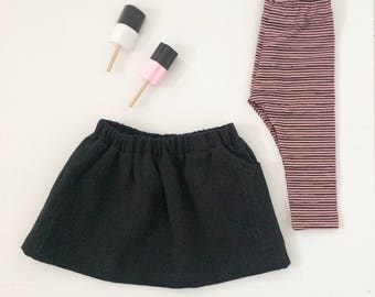 Legging stripes pink/ black