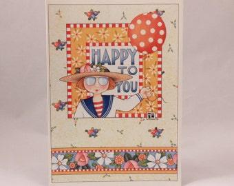Mary Engelbreit Ink Greeting Card. Single Card with Envelope per purchase. Happy to You