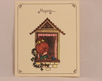 NEW! Vintage Drawing Board Missing You Greeting Card and Envelope.