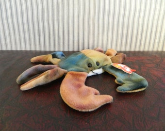 "TY Brown And Green Crab Beanie Baby ""Claude"" (B)"