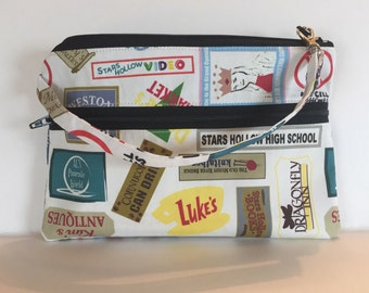 Gilmore Girls/ Stars Hollow inspired  zipper pouch/ cellphone wallet/ wristlet