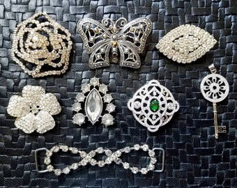 Gorgeous Crystal Rhinestone Jewelry Items - Findings, Connectors, Charms, Pendants - Vintage & New