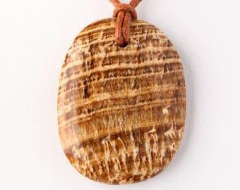 Natural Polished Peruvian Aragonite Pendant
