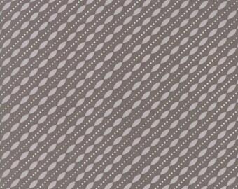 Lulu Lane Petal Stripe fabric in Slate Gray and White by Corey Yoder for Moda Fabrics #29026-20