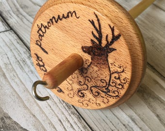 Expecto Patronum - Hand Burned Drop Spindle