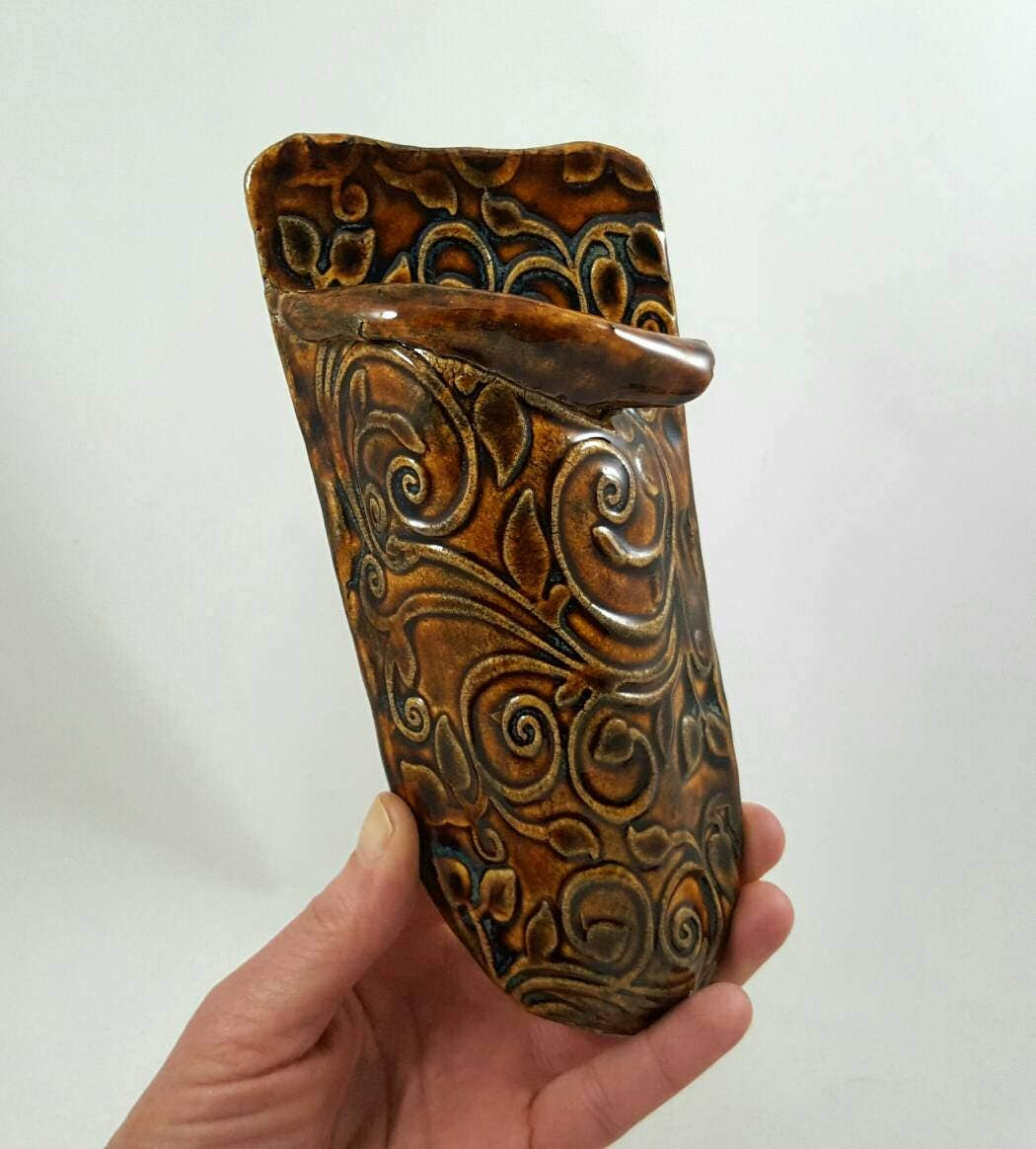 Wall pocket vase wall pocket ceramic hanging wall vase clay wall pocket vase wall pocket ceramic hanging wall vase clay wall vase reviewsmspy
