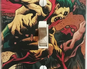 The Creeper and the Axeman Light Switch Plate Cover Batman DC Comics Bedroom Dorm Game Room Den Theater FREE SHIPPING in the United States