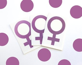 feminist (set of 3) temporary tattoos, venus symbol