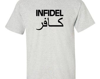 INFIDEL SOLDIER T-shirt Graphic Tee  100% Screen Printed  ***Free Shipping***