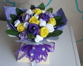 FOR FUNMI - Two custom bouquets (purple, yellow and white)