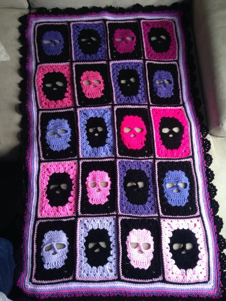 Crochet Skull Blanket Skull Afghan Skull By
