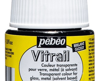 Pebeo Vitrail Transparent Glass Paint 45ml Pots