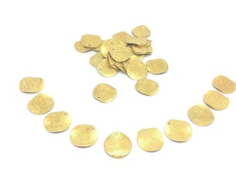 50 charms round Stardust gold 15mm