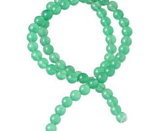 60 beads of Agate natural 6mm Green