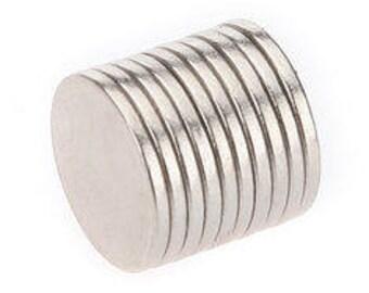 10 Neodymium Magnets 10mm x 1mm
