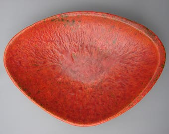 Rare Ruscha bowl volcano Fat lava West German ceramics Ruscha vulcano