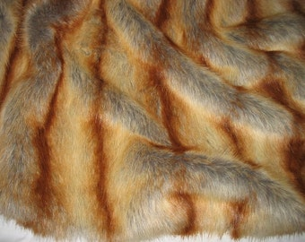 """RED FOX faux fur Sample Swatch, Very Soft, 8"""" X 10"""""""