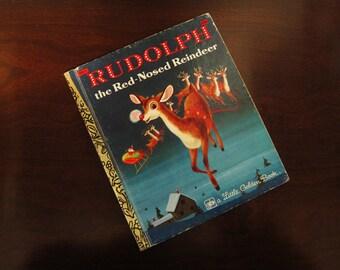 Rudolph The Red-Nosed Reindeer - Vintage Children's Little Golden Book – 452-1