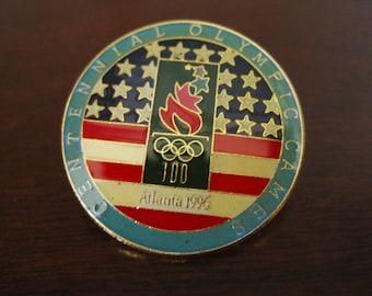 1996 Olympic Games Souvenir Pin Badge - Atlanta Centennial Olympic Games Enameled Pin Memorabilia Error Pin