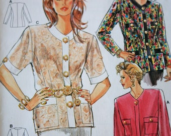 Classic Chanel Style Cardigan Jacket Pattern---Burda 4123---Sizes 10-20  UNCUT