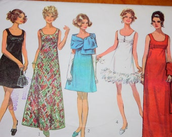 Gorgeous Empire Waist Evening Dress and Stole Pattern---Simplicity 8495---Size 14  Bust 36