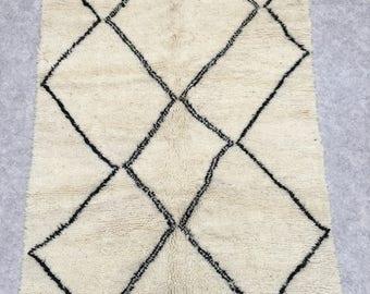 165x105cm BENI OUARAIN Rug carpets new carpet handmade