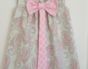 Girls Dress, Toddler Dress, 4T, Paisley