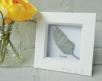 Memorial frame, Feather memorial box frame, memorial keepsake, Remembrance box frame