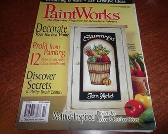 PaintWorks October 2007 Magazine Issue With Pull Out Patterns