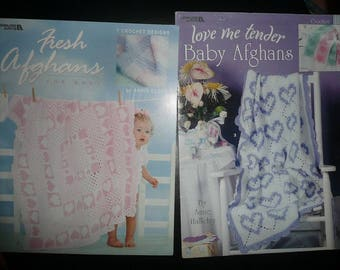 Leisure Arts Baby Afghans Pattern Leaflets