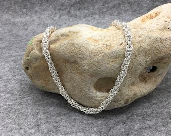 Sterling Silver Byzantine Necklace Hallmarked