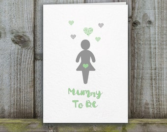mum to be Card, mummy to be card, baby shower card, expectant mum card