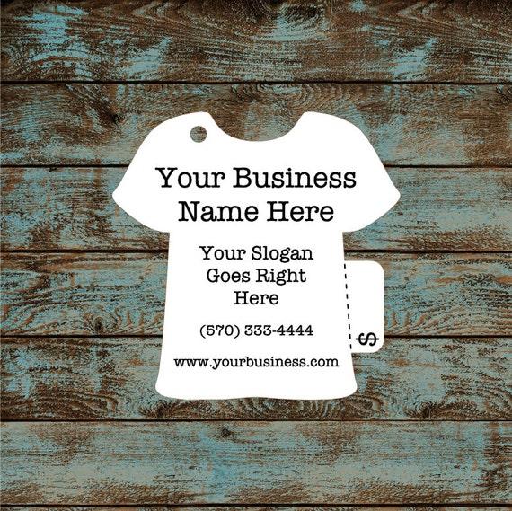 Price Tags - T-Shirt Hang Tags Custom #638 - Quantity: 30 Tags