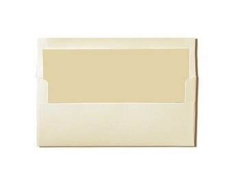 20 Cream with Old Pearl Lined Envelopes -  Tea Length or #10 Sizes